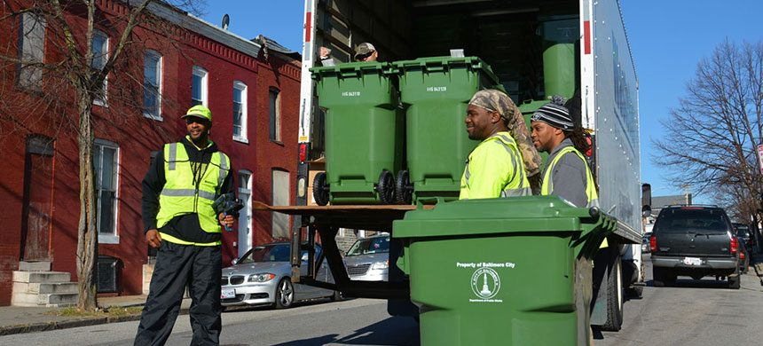"Baltimore to Pay $9 Million to Buy 210,000 ""Smart"" Garbage Cans for Residents"