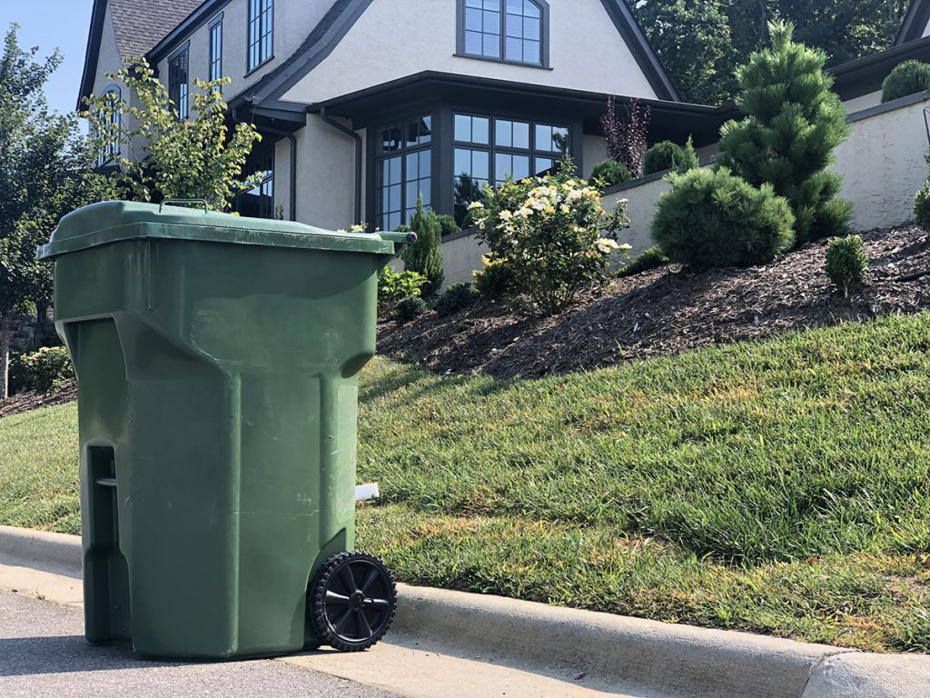 waste cart adds to community aesthetics by giving neighborhoods a uniform look on collection day