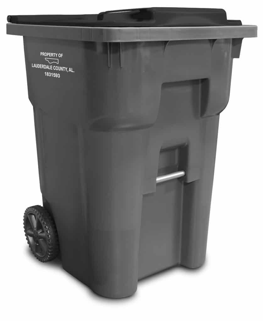 Lauderdale County, AL waste carts