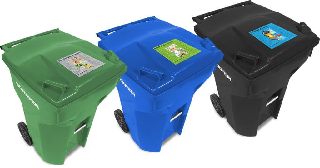 Waste cart options like in-mold labeling (IML) enable easy-to-follow instructions for residents.