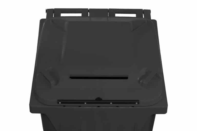 Secure Document Cart with Lock in Charcoal by SCHAEFER